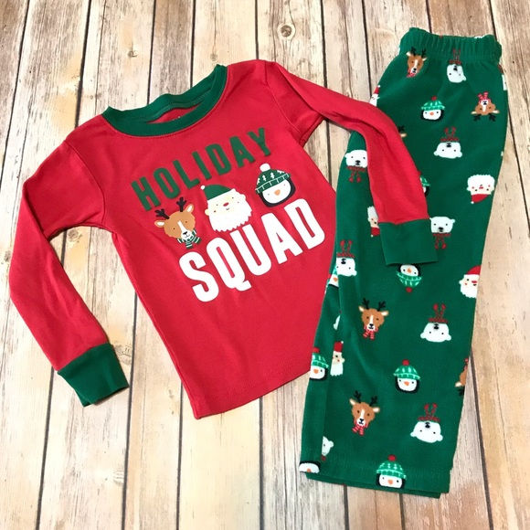 NWT Carter/'s PJs 2T 3T 4T 5T Pajamas Green Christmas Holiday Snug Fit  Carters